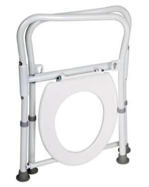 Folding aluminium over toilet aid